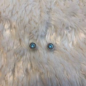 Blue Brighton stud earrings